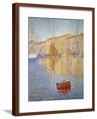 The Red Buoy, 1895-Paul Signac-Framed Art Print