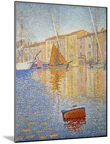 The Red Buoy, 1895-Paul Signac-Mounted Giclee Print