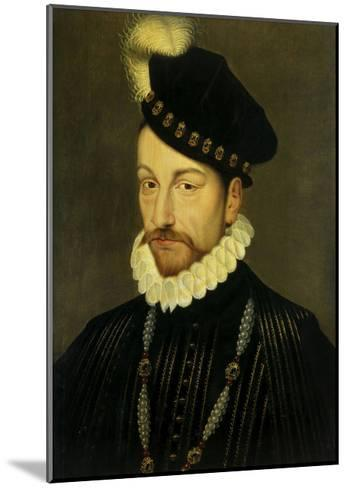 Portrait of Charles IX, King of France. Ca. 1570-Francois Clouet-Mounted Giclee Print