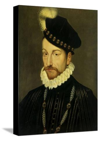 Portrait of Charles IX, King of France. Ca. 1570-Francois Clouet-Stretched Canvas Print