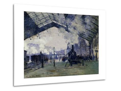 Arrival of the Normandy Train, Gare Saint-Lazare, 1877-Claude Monet-Metal Print