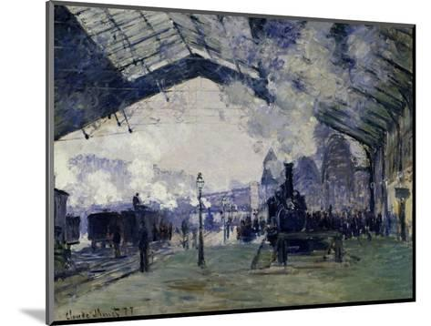 Arrival of the Normandy Train, Gare Saint-Lazare, 1877-Claude Monet-Mounted Giclee Print