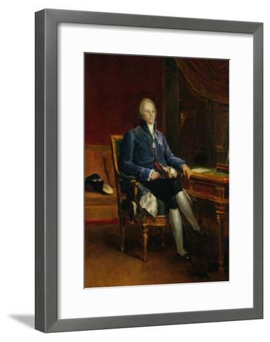 Portrait of Charles Maurice De Talleyrand Perigord, Prince of Benevent, 1808-Francois Gerard-Framed Art Print