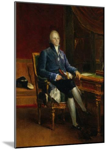 Portrait of Charles Maurice De Talleyrand Perigord, Prince of Benevent, 1808-Francois Gerard-Mounted Giclee Print