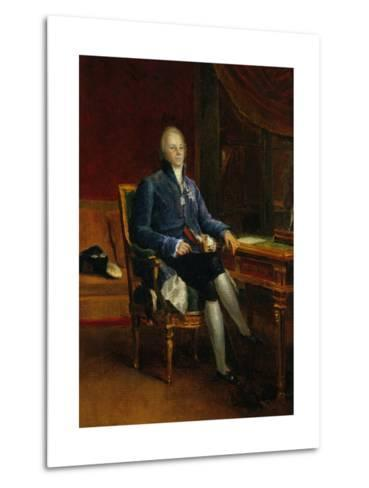 Portrait of Charles Maurice De Talleyrand Perigord, Prince of Benevent, 1808-Francois Gerard-Metal Print