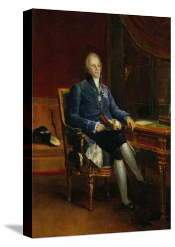 Portrait of Charles Maurice De Talleyrand Perigord, Prince of Benevent, 1808-Francois Gerard-Stretched Canvas Print