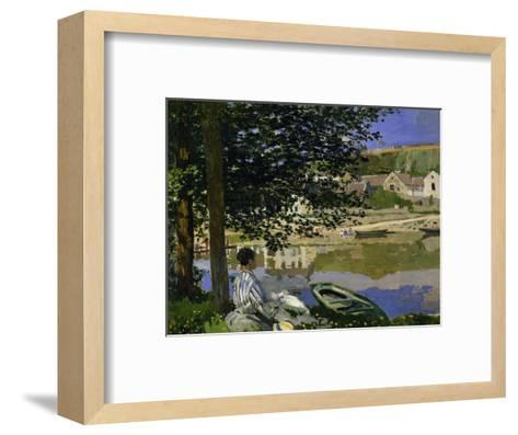 On the Bank of the Seine, Bennecourt, 1868-Claude Monet-Framed Art Print