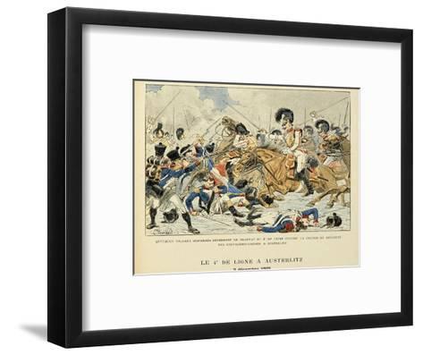 4th Line Infantry in Austerlitz, Dec. 2, 1805, from the Book 'Les Heros Du Siecle'-Louis Bombled-Framed Art Print