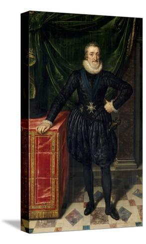 Full Length Portrait of Henri IV of France, Ca.1600-10-Frans Poubus the Younger-Stretched Canvas Print