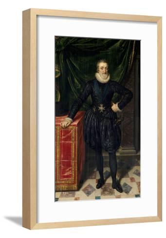 Full Length Portrait of Henri IV of France, Ca.1600-10-Frans Poubus the Younger-Framed Art Print
