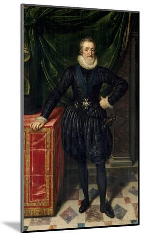 Full Length Portrait of Henri IV of France, Ca.1600-10-Frans Poubus the Younger-Mounted Giclee Print
