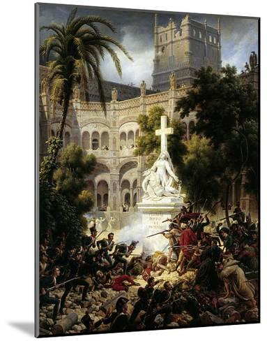 Assault of San Engracia Monastery at Zaragoza, February 8Th, 1809-Louis Francois Lejeune-Mounted Giclee Print