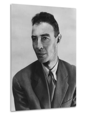Robert Oppenheimer, Atomic Physicist and Head the Manhattan Project's Secret Weapons Laboratory--Metal Print