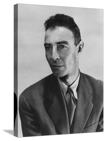 Robert Oppenheimer, Atomic Physicist and Head the Manhattan Project's Secret Weapons Laboratory--Stretched Canvas Print