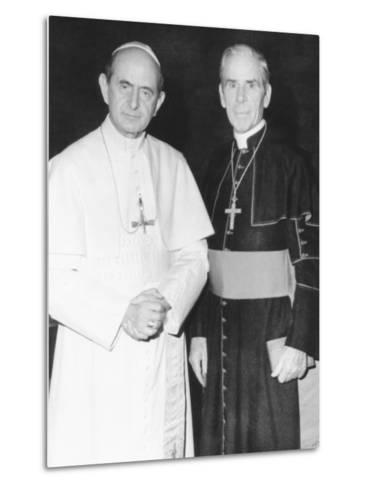 Fulton J. Sheen Following a Private Audience Pope Paul VI at the Vatican, March 17, 1971--Metal Print