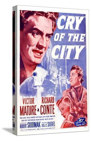 Cry of the City, Victor Mature, Richard Conte--Stretched Canvas Print