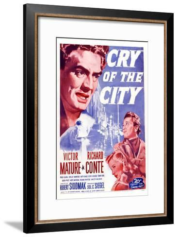 Cry of the City, Victor Mature, Richard Conte--Framed Art Print