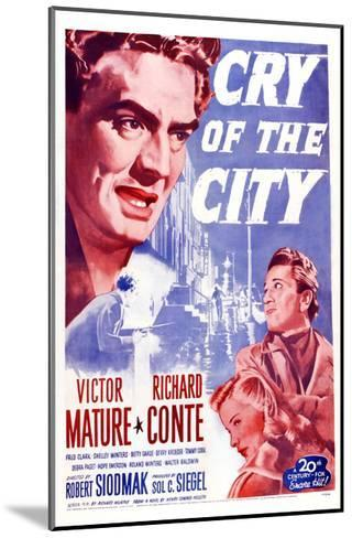 Cry of the City, Victor Mature, Richard Conte--Mounted Giclee Print