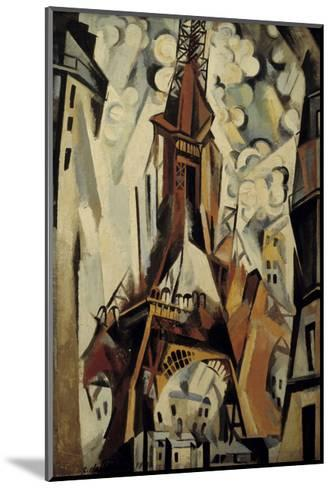 The Eiffel Tower, 1910-Robert Delaunay-Mounted Giclee Print