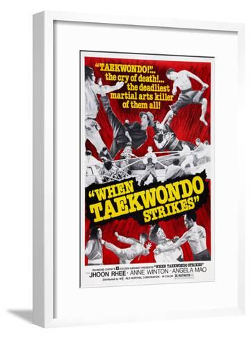 When Taekwondo Strikes--Framed Art Print