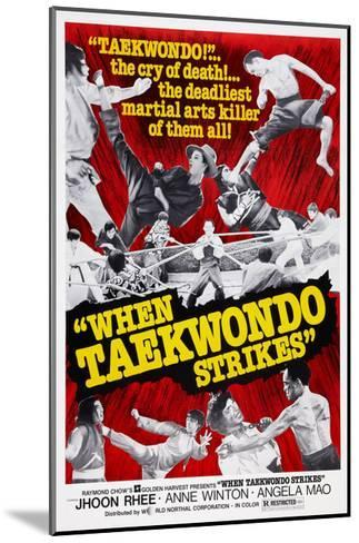 When Taekwondo Strikes--Mounted Giclee Print