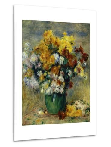 Bunch of Chrysanthemums-Pierre-Auguste Renoir-Metal Print