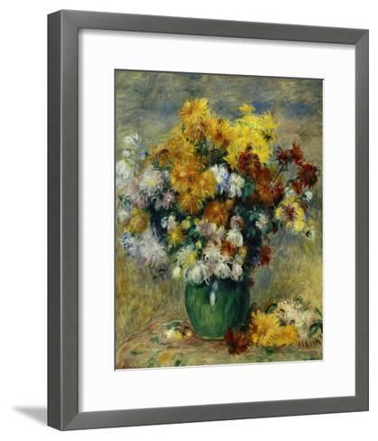 Bunch of Chrysanthemums-Pierre-Auguste Renoir-Framed Art Print