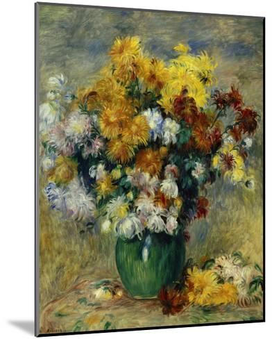 Bunch of Chrysanthemums-Pierre-Auguste Renoir-Mounted Giclee Print