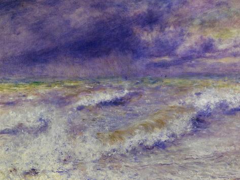 Seascape, 1879-Pierre-Auguste Renoir-Stretched Canvas Print