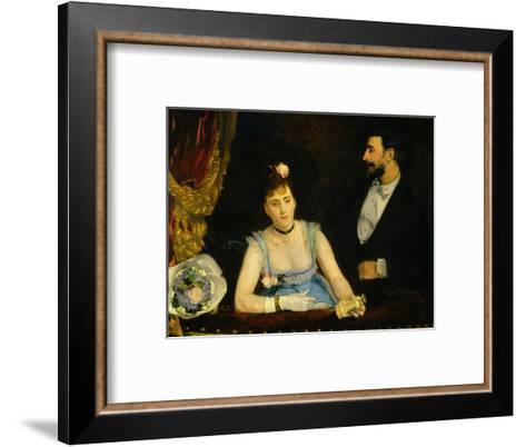 Famous Spanish Dancer Eva Gonzales in a Box at the Italians' Theatre, Paris, 1874--Framed Art Print