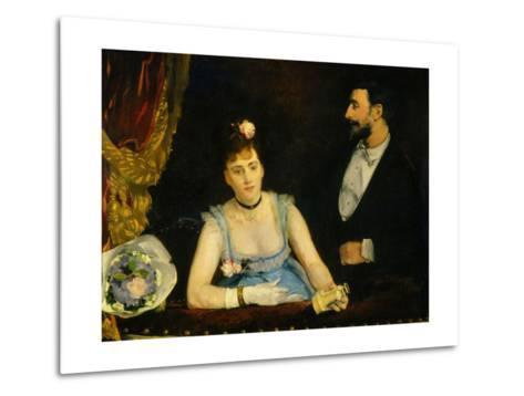 Famous Spanish Dancer Eva Gonzales in a Box at the Italians' Theatre, Paris, 1874--Metal Print