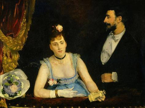 Famous Spanish Dancer Eva Gonzales in a Box at the Italians' Theatre, Paris, 1874--Stretched Canvas Print