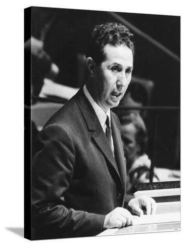 Algerian President Ahmed Ben Bella Addresses the United Nations General Assembly on Oct. 9, 1962--Stretched Canvas Print