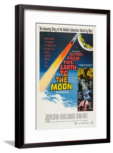 From the Earth to the Moon--Framed Art Print