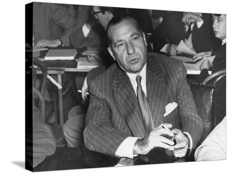 Frank Costello Testifying before a Senate Interstate and Foreign Commerce Subcommittee--Stretched Canvas Print