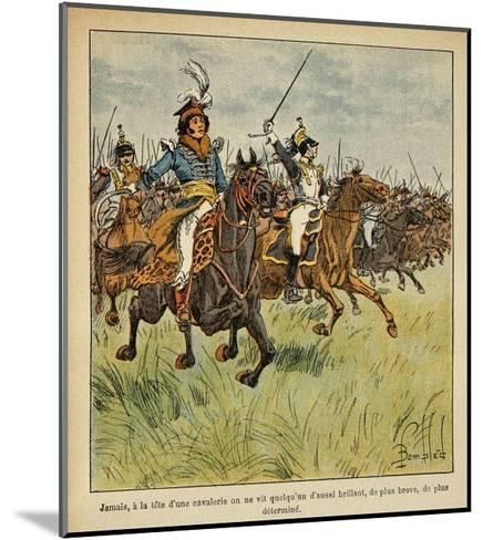 Napoleonic Wars, Joachim Murat Charging at the Head of His Cavalry-Louis Bombled-Mounted Giclee Print