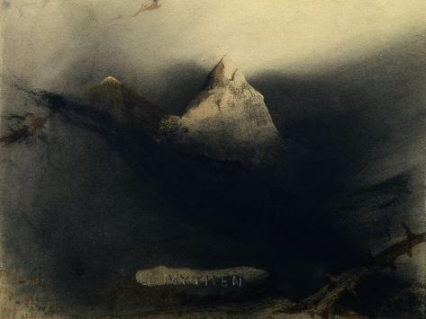 The Mountain of Myths-Victor Hugo-Stretched Canvas Print