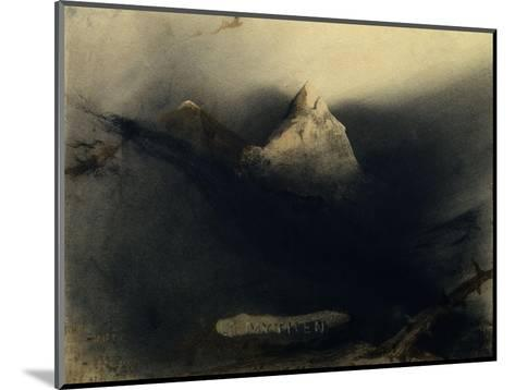 The Mountain of Myths-Victor Hugo-Mounted Giclee Print
