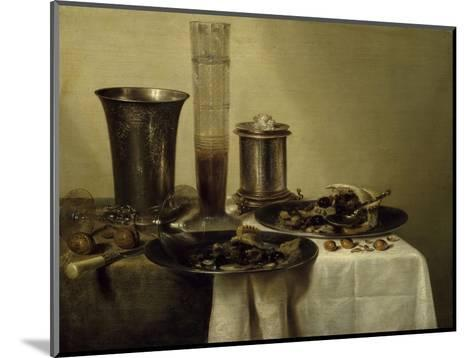 A Dessert, Previously Called Still Life with Silver Tumbler. 1637-Willem Claesz Heda-Mounted Giclee Print