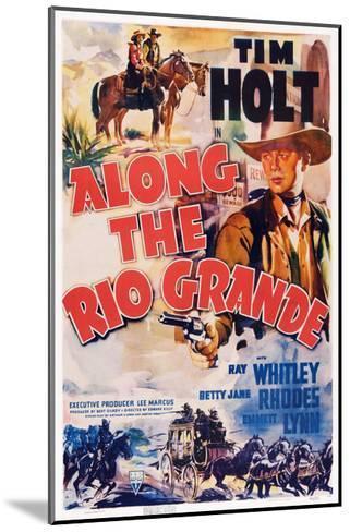 Along the Rio Grande--Mounted Giclee Print
