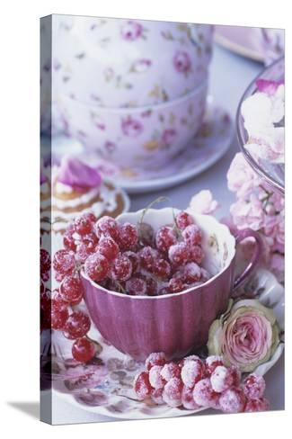 Candied Redcurrants-Elke Borkowski-Stretched Canvas Print