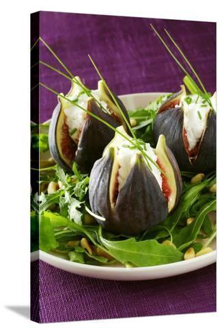 Stuffed Figs on Rocket Salad-Anthony Lanneretonne-Stretched Canvas Print