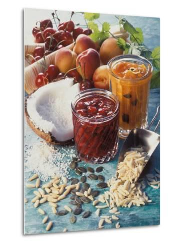 Cherry Jam with Coconut and Apricot Jam with Almonds-Martina Urban-Metal Print