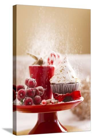 A Christmas Cupcakes in an Icing Sugar Snowstorm-Rogério Voltan-Stretched Canvas Print