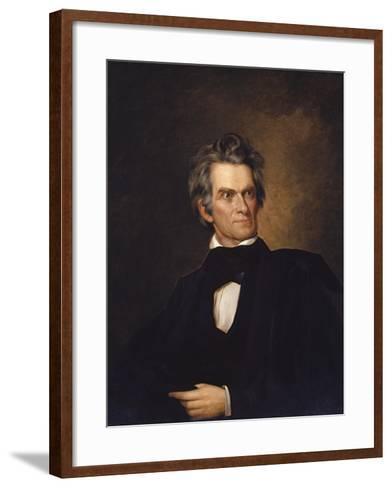 American History Print of U.S. Vice President and Senator John C. Calhoun-Stocktrek Images-Framed Art Print