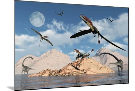 Eudimorphodons from the Triassic Period of Earth-Stocktrek Images-Mounted Art Print