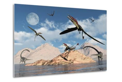 Eudimorphodons from the Triassic Period of Earth-Stocktrek Images-Metal Print