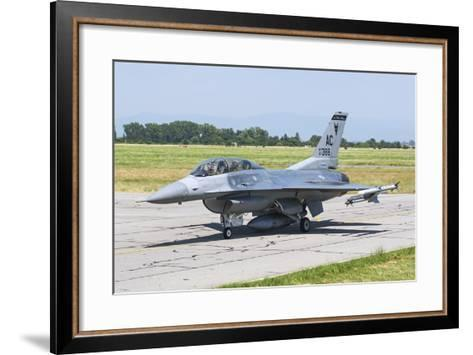 New Jersey Air National Guard F-16C Taxiing at Graf Ignatievo Air Base-Stocktrek Images-Framed Art Print