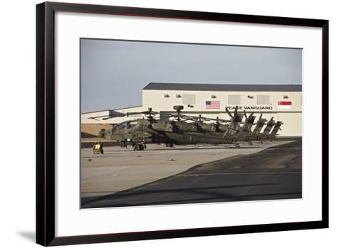 Republic of Singapore Air Force Ah-64D Apache Longbow Helicopters-Stocktrek Images-Framed Art Print