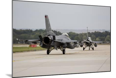 A Pair of U.S. Air Force F-16C Fighting Falcons Taxiing on the Runway-Stocktrek Images-Mounted Photographic Print